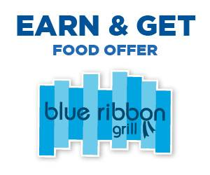 Earn & Get Food Offer at Blue Ribbon Grill
