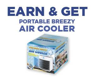 Earn & Get Portable Breezy Air Cooler